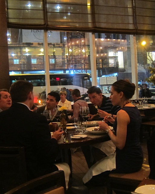 Dining in the Bar Room at Aureole