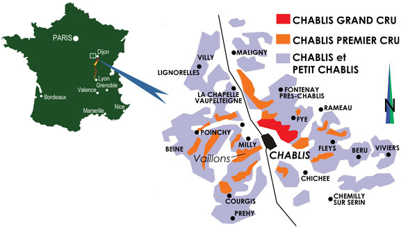 Chablis France Map.Chablis Drink Deep Or Taste Not The Pierian Spring Wine4food