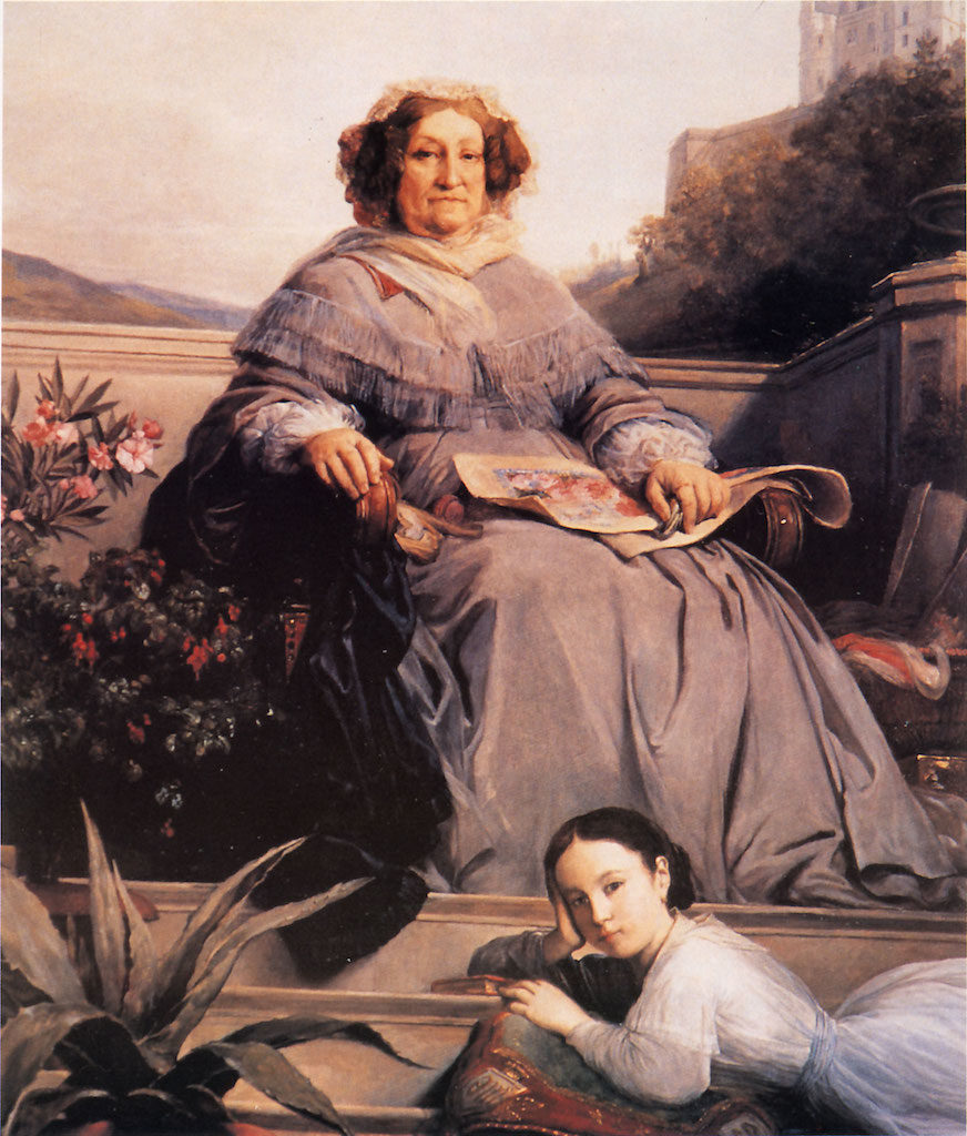 Madame Clicquot and her great-granddaughter Anne de Rochechouart-Mortemart by Léon Cogniet