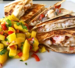 Lobster Quesadilla with Mango Salsa Recipe - Wine4Food