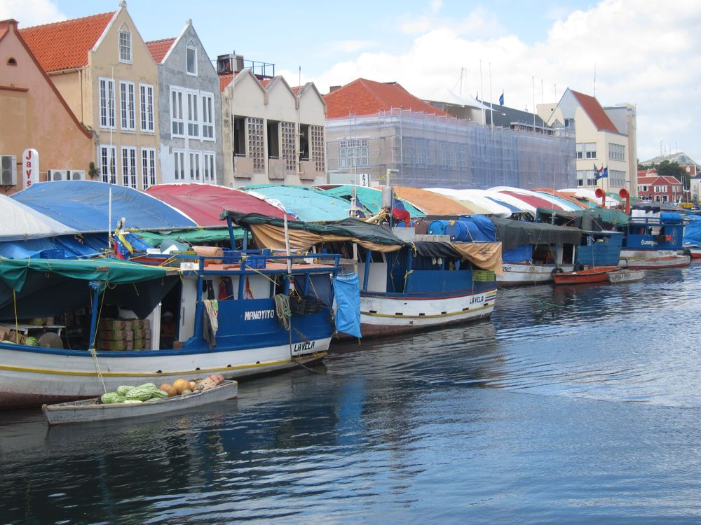 Floating Markets in downtown Willemstad