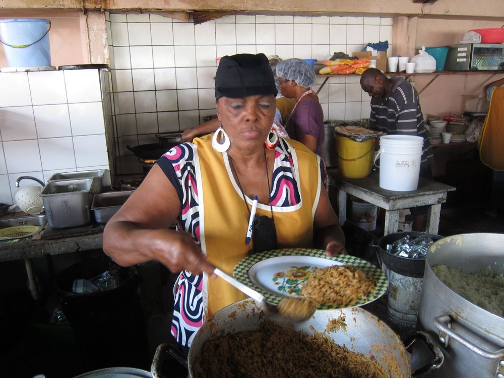 Local Mama's at Yvonne's in downtown Willemstad