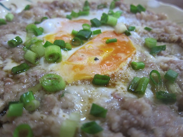 The awesome Minced Pork with Salted Duck Egg