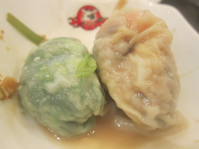 Two great dumplings after their baths in the hot pot