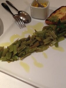 Cardi with a creative anchovy sauce at Caminetto d'Oro