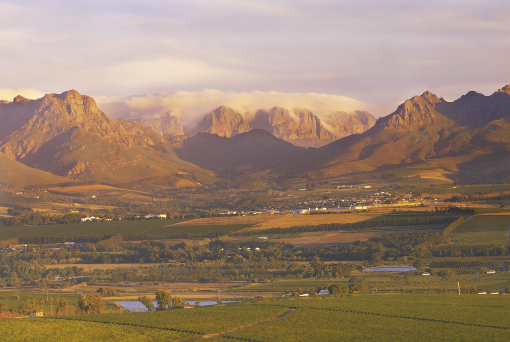 The view over Jamestown in Stellenbosch