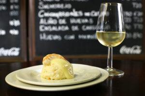 Vinos Jerez Sherry Tapas Ensaladilla Fino Grilled Shrimp