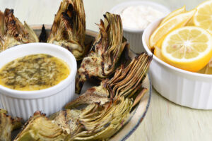 Roasted Artichoke Hearts White Wine Butter Sauce - Wine4Food