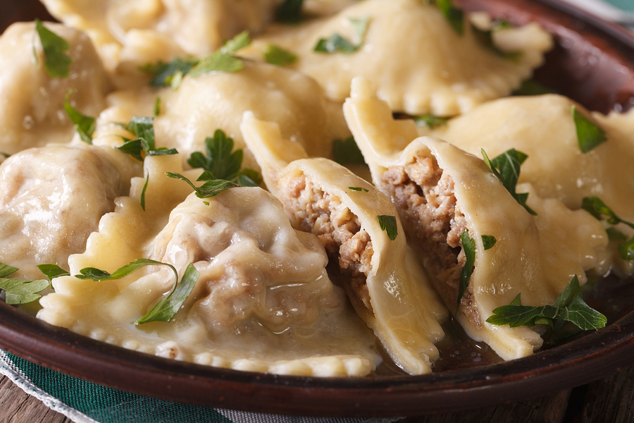 Short Rib Meat Ravioli Wontons Chianti Wine4Food