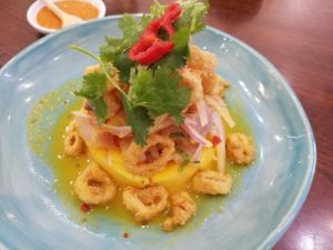 Peru Cusco Cuisine Morena Causa Toasted Corn Chowder Fried Calamari - Wine4Food