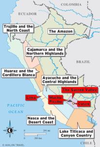 Peru Map Regions - Wine4Food