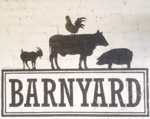 Brix Wines, Barnyard Cheese Shop, Sign on Brick, Concrete Terroir - Wine4Food