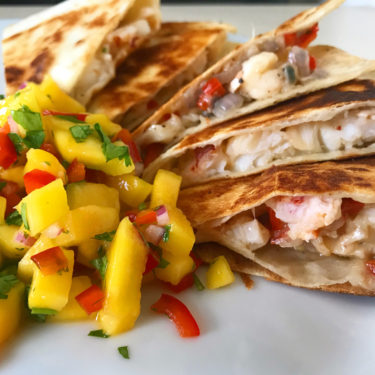 Lobster Quesadilla with Mango Salsa Recipe - Wine4Food
