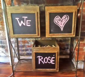 Brix Wine Shop, Concrete Terroir, We Heart Rosé Sign - Wine4Food
