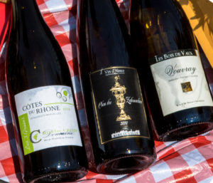 Picnic, three French White Wines, Labels - Wine4Food