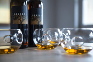 Orange Wines, gravner-amber wine in glasses - Wine4Food